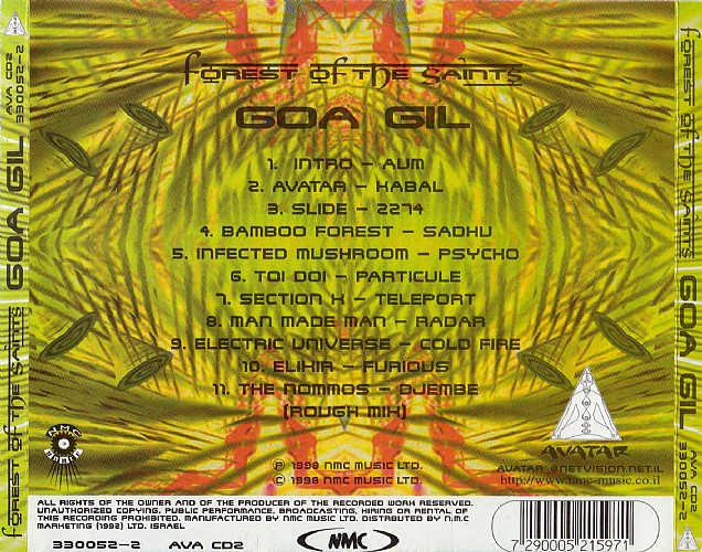 Various Artists - Forest Of The Saints mixed by Goa Gil: Back