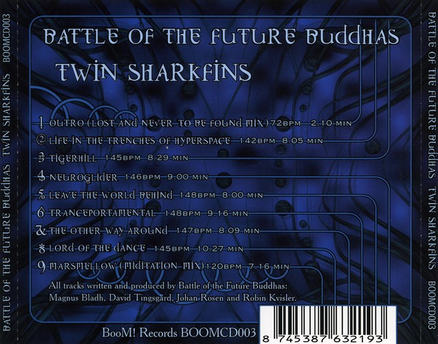 Battle of the Future Buddhas - Twin Sharkfins: Back