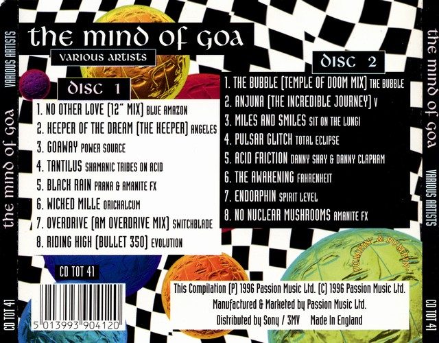 Various Artists - The Mind of Goa: Back