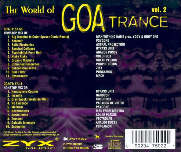 Various Artists - The World of Goa Trance 2: Back