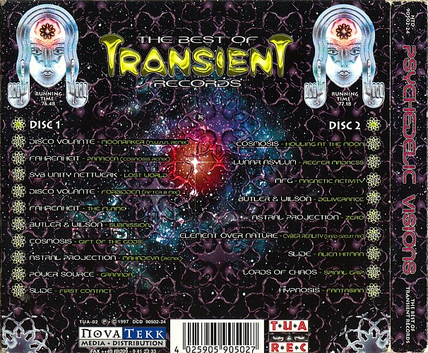 Various Artists - Psychedelic Visions - The Best of Transient Records: Back