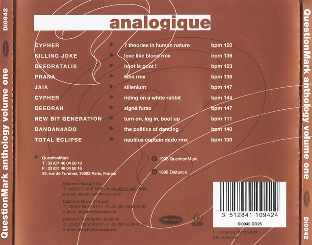 Various Artists - Questionmark Anthology 1, Analogique: Back