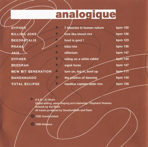 Various Artists - Questionmark Anthology 1, Analogique: Inside