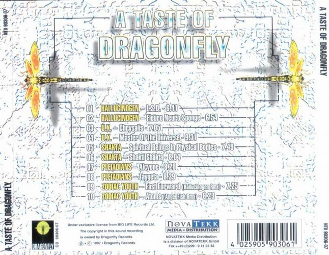 Various Artists - A Taste of Dragonfly 1: Back