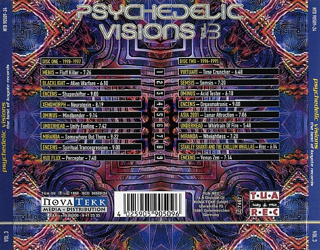 Various Artists - Psychedelic Visions 3 - The best of Koyote Records: Back