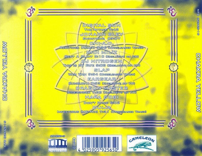Various Artists - Chakra Yellow: Back