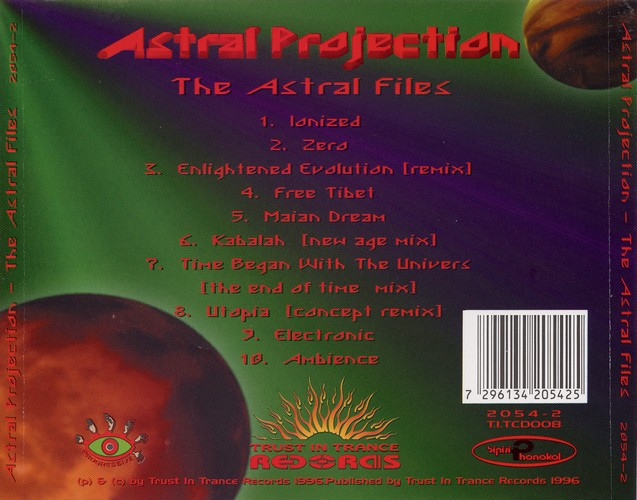 Astral Projection - The Astral Files: Back