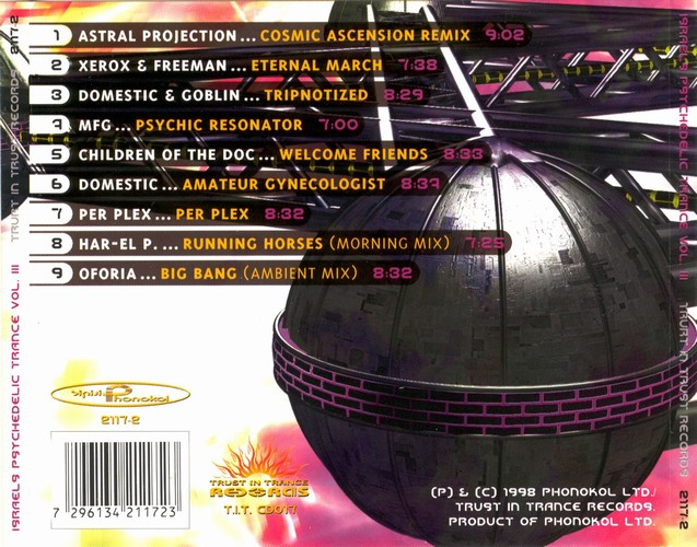 Various Artists - Israels Psychedelic Trance 3: Back