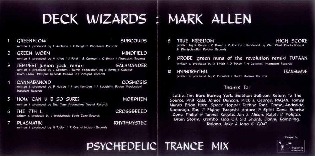 Various Artists - Deck Wizards 1 - Mark Allen - Psychedelic Trance Mix: Inside