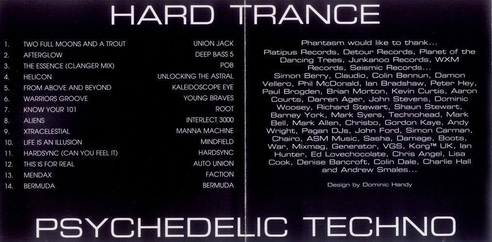 Hard Trance 1 (CD, 1994) at PsyDB