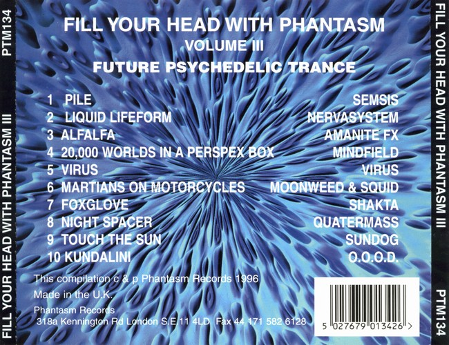 Various Artists - Fill Your Head With Phantasm 3: Back
