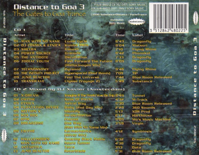 Various Artists - Distance to Goa 3: Back