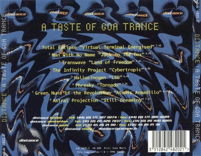 Various Artists - Distance, A Taste Of Goa Trance: Back