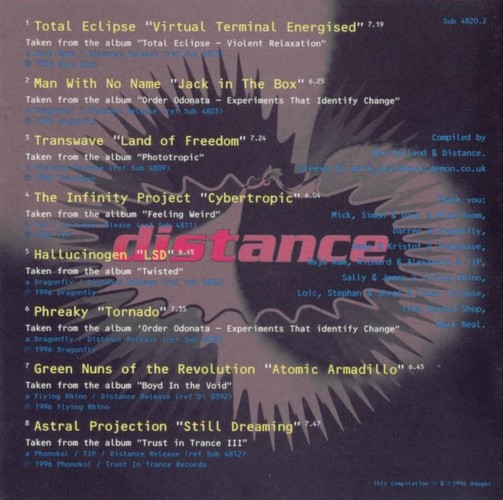 Various Artists - Distance, A Taste Of Goa Trance: Inside