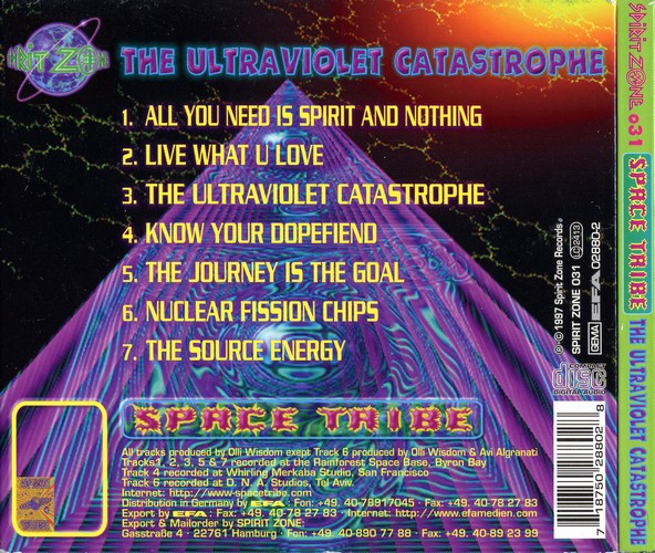 Space Tribe - The Ultraviolet Catastrophe: Back