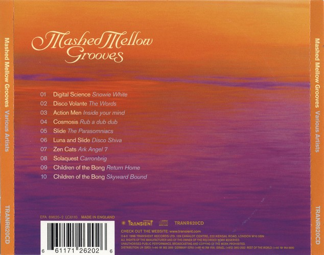 Various Artists - Mashed Mellow Grooves 1: Back