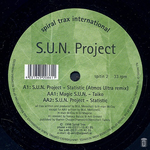 S.U.N. Project - Statistic EP: Side A