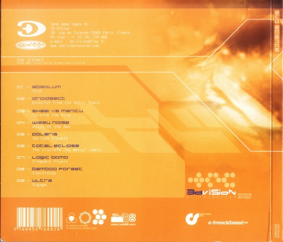 Various Artists - Sub Science: Back