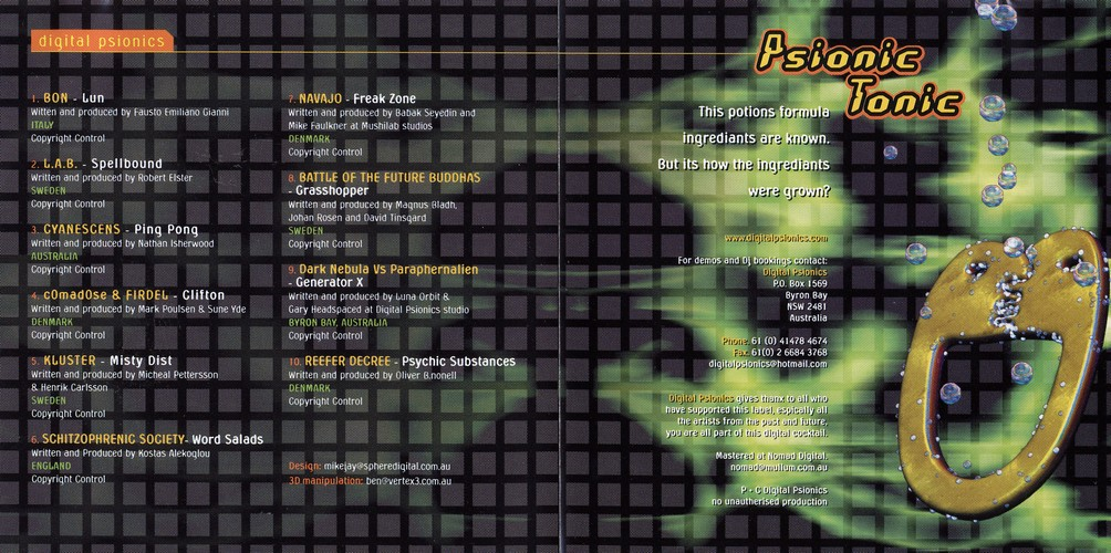 Various Artists - Psionic Tonic: Inside