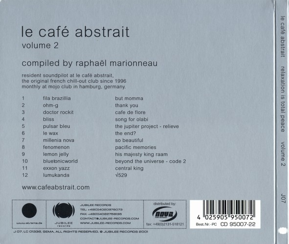 Various Artists - Le Café Abstrait 2 - Relaxation is Total Peace: Back