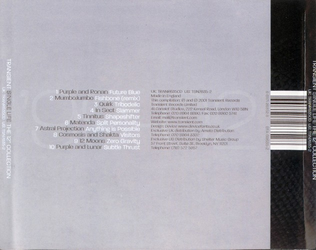 Various Artists - Transient Single Life: The 12'' Collection: Back
