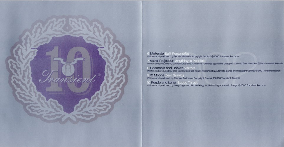 Various Artists - Transient Single Life: The 12'' Collection: Inside 3
