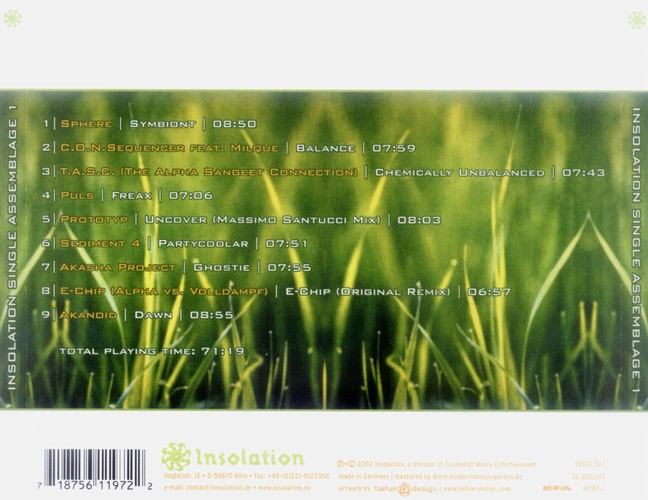 Various Artists - Insolation Single Assemblage 1: Back