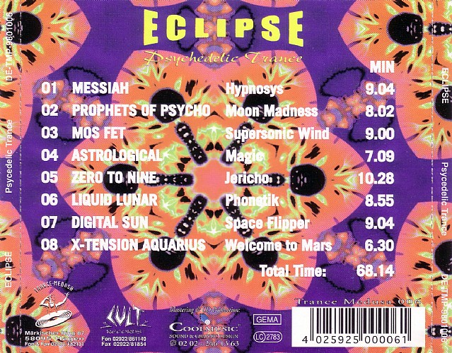 Various Artists - Eclipse Psychedelic Trance: Back