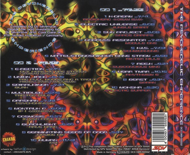 Various Artists - The Psychedelic Experience 1: Back