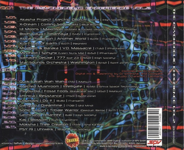 Various Artists - The Psychedelic Experience 2: Back