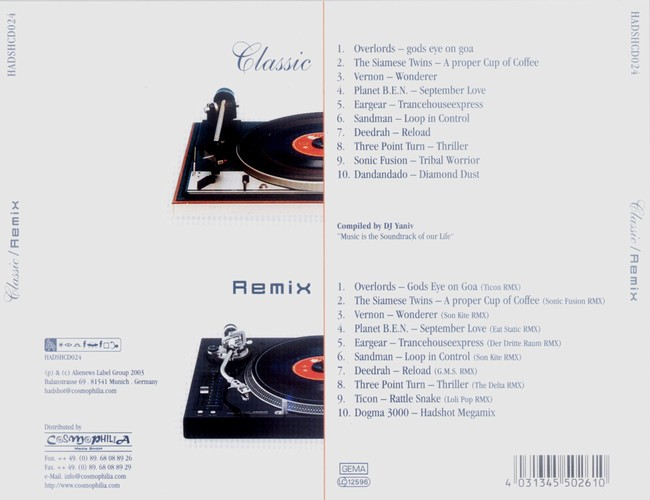 Various Artists - Classic Remix: Back