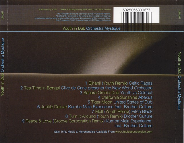 Various Artists - Youth In Dub Ochestra Mystique: Back