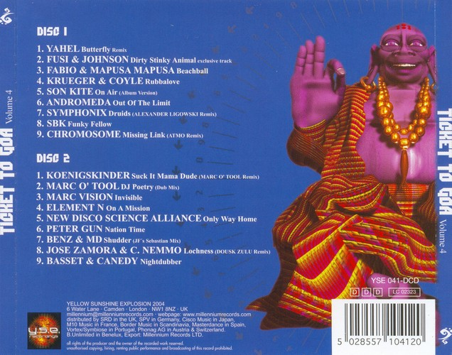 Various Artists - Ticket to Goa 4: Back