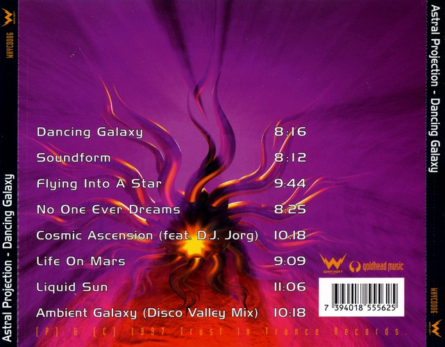 Astral Projection - Dancing Galaxy (CD, 1997) at PsyDB