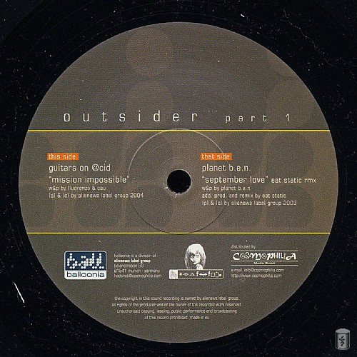 Various Artists - Outsider Part 1 EP: Side A