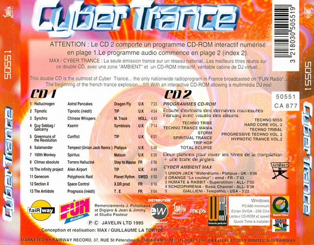 Various Artists - Cyber Trance 1: Back