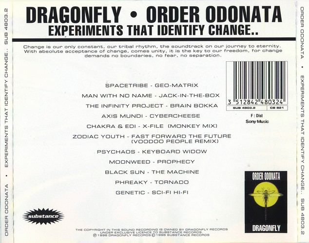 Various Artists - Order Odonata 2: Back