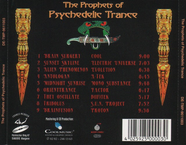 Various Artists - The Prophets of Psychedelic Trance: Back