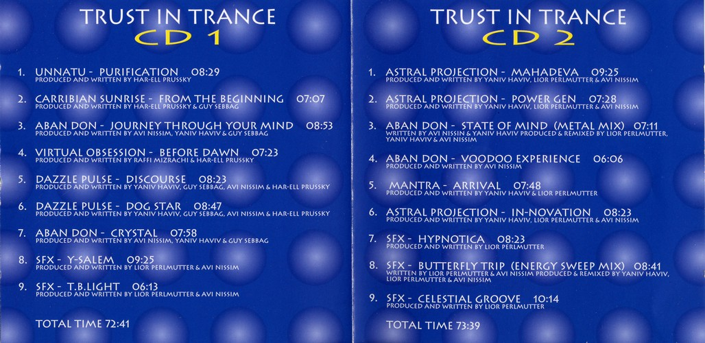Various Artists - Trust In Trance I + II: Inside
