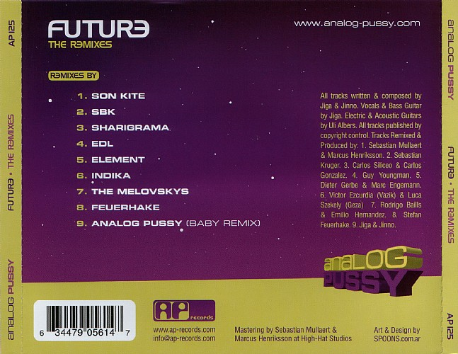 Analog Pussy - Future The Remixes: Back