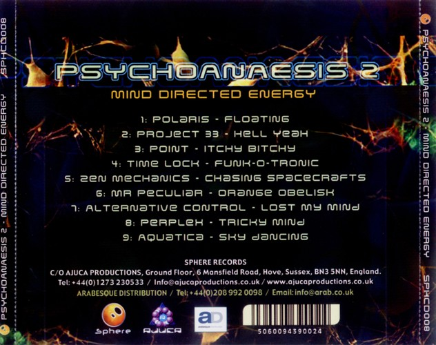 Various Artists - Psychoanaesis 2 - Mind Directed Energy: Back