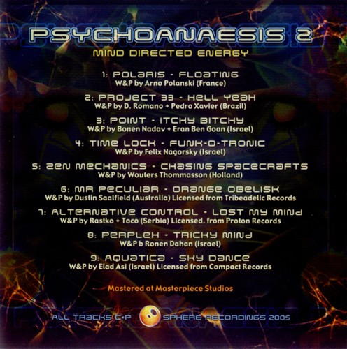 Various Artists - Psychoanaesis 2 - Mind Directed Energy: Inside 2