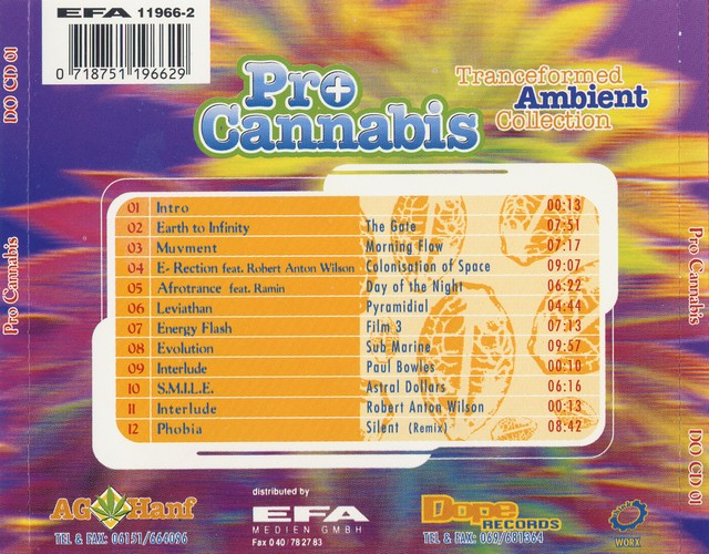 Various Artists - Pro Cannabis: Back