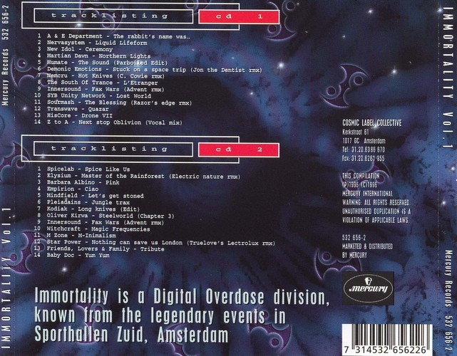 Various Artists - Immortality: Back