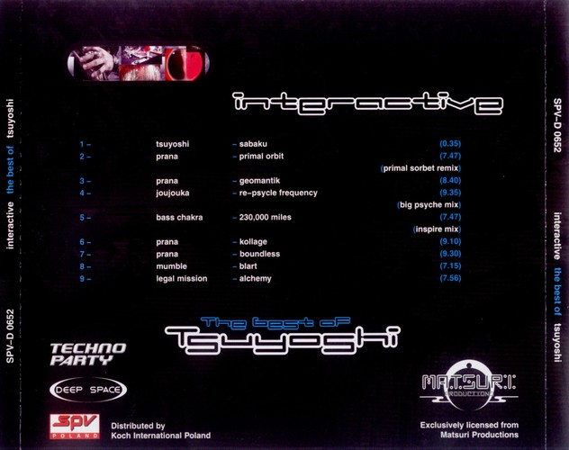 Various Artists - Interactive - The Best of Tsuyoshi: Back