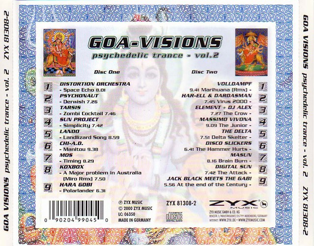 Various Artists - Goa-Visions - Psychedelic Trance 2: Back