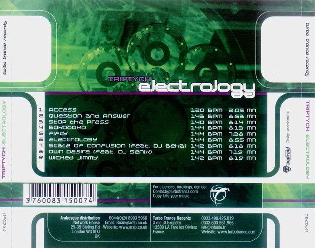 Triptych - Electrology: Back