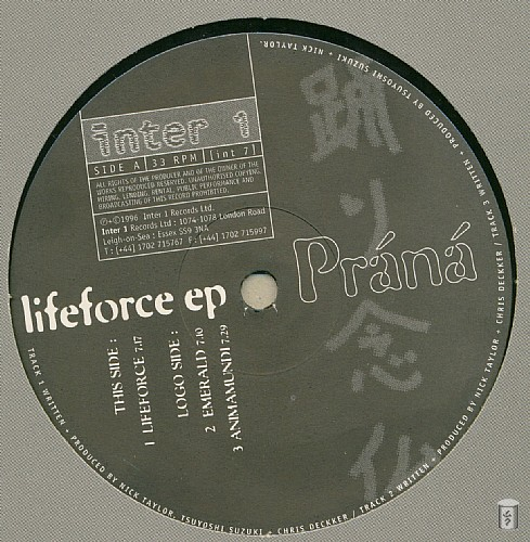 Prana - Lifeforce EP: Side A