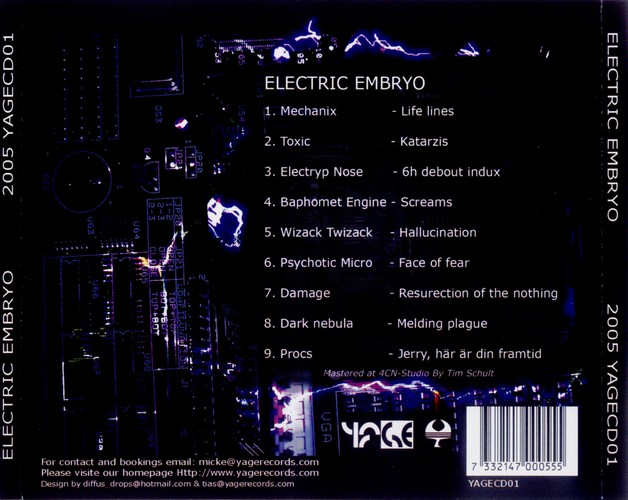 Various Artists - Electric Embryo: Back