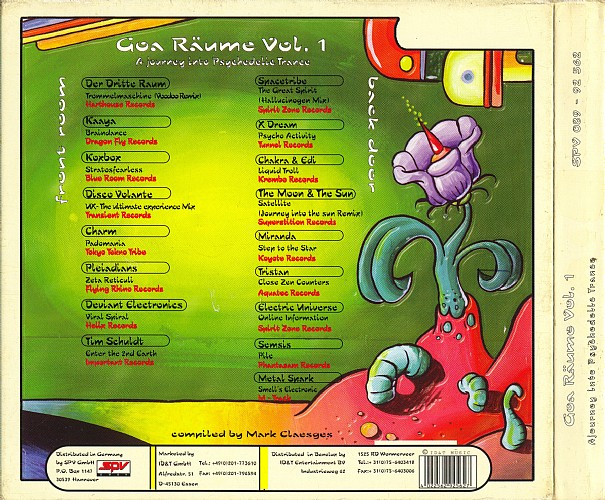 Various Artists - Goa Raume 1 - A Journey Into Psychedelic Trance: Back